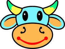 Happy cow. Illustration of a happy cow Royalty Free Stock Images