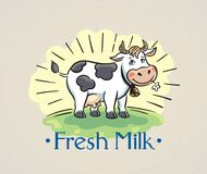 Free Happy Cow At The Meadow Stock Photo - 118504030