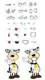 Happy Cow cartoon expressions set Stock Photo