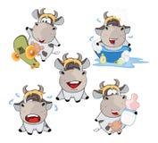 Happy cow .Clip-Art Cartoon Stock Image