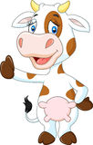 Happy cow giving thumb up isolated on transparent background Stock Photo