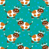 Happy cow seamless pattern Royalty Free Stock Images