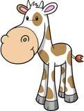 Happy Cow Vector Illustration. Happy Cute Farm Cow Vector Illustration vector illustration