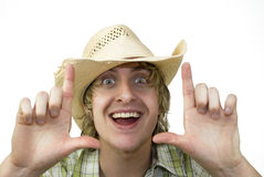 Happy Cowboy Royalty Free Stock Photography