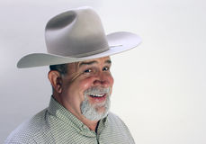 Happy Cowboy. A portrait of a happy cowboy with a broad smile Royalty Free Stock Photos