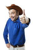 Happy Cowboy like Stock Photo