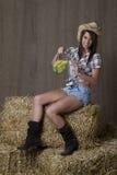 Happy cowgirl Stock Photo