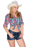 Happy Cowgirl stock photography