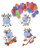 Happy cows.Clip-Art. Cartoon Stock Photography