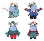 Happy cows.Clip-Art. Cartoon Stock Photography