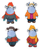 Happy cows.Clip-Art. Cartoon. Set of small various cows royalty free illustration