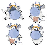 Happy cows.Clip-Art. Cartoon. Set of various blue white cows royalty free illustration