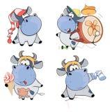 Happy cows.Clip-Art. Cartoon Stock Image