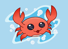 Happy Crab. An cartoon illustration of a happy crab Vector Illustration