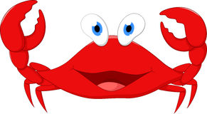 Happy crab cartoon Stock Photography