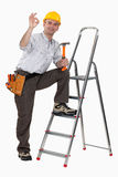 Happy craftsman Royalty Free Stock Images