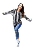 Happy crazy excited woman screaming Royalty Free Stock Photos