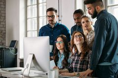 Creative coworkers working in office Royalty Free Stock Image