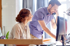 Free Happy Creative Team Calling On Phone In Office Royalty Free Stock Image - 65468986