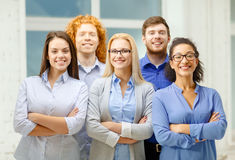 Happy creative team in office Royalty Free Stock Photos