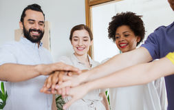Happy creative team in office Royalty Free Stock Image