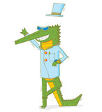 The happy crocodile. Available in vector eps 10 file royalty free illustration