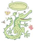 Happy crocodile cartoon Royalty Free Stock Images
