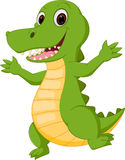 Happy crocodile cartoon. Illustration of Happy crocodile cartoon isolated on white royalty free illustration
