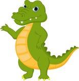 Happy crocodile cartoon Royalty Free Stock Photos