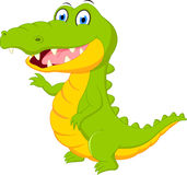 Happy crocodile cartoon. Illustration of Happy crocodile cartoon on white stock illustration