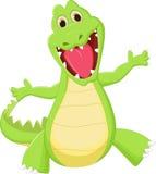 Happy crocodile cartoon Stock Photos