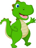 Happy Crocodile Cartoon waving Stock Photo