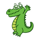 Happy crocodile for kids design. Collection stock vector illustration
