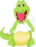 Happy crocodile preparing to eat Stock Photo