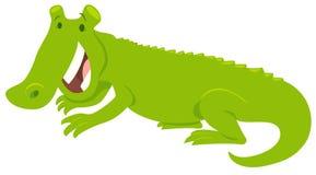 Happy crocodile wild animal character. Cartoon Vector Illustration of Happy Cute Crocodile Wild Animal Character stock illustration