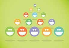 Happy crowd group Royalty Free Stock Photo