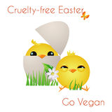 Happy Cruelty-free Easter Royalty Free Stock Photography