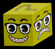 Happy cube Royalty Free Stock Photo