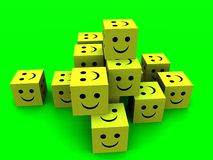 Happy Cubes stock photography