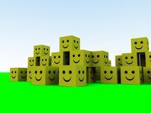 Happy Cubes 6 royalty free stock photos