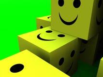Happy Cubes 8 stock image