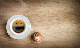 Happy  cup of coffee with copy space Royalty Free Stock Image