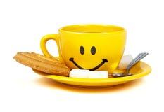 Happy cup of tea Stock Photo