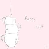 Happy cups Stock Image