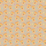 Happy cups seamless pattern Royalty Free Stock Image