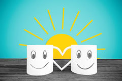 Happy cups Stock Photography