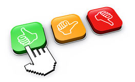 Happy Customer Click Feedback Button Royalty Free Stock Image