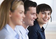 Happy Customer Service Reps Stock Photos