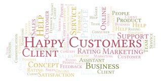 Happy Customers word cloud. royalty free illustration