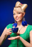 Happy cute blonde lady Royalty Free Stock Photo